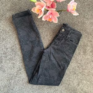 FIDELITY / STEVIE GREY LACE SKINNY JEANS